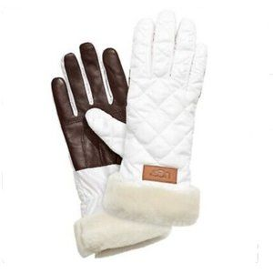 UGG WOMEN'S QUILTED PERFORMANCE WHITE GLOVES TECH